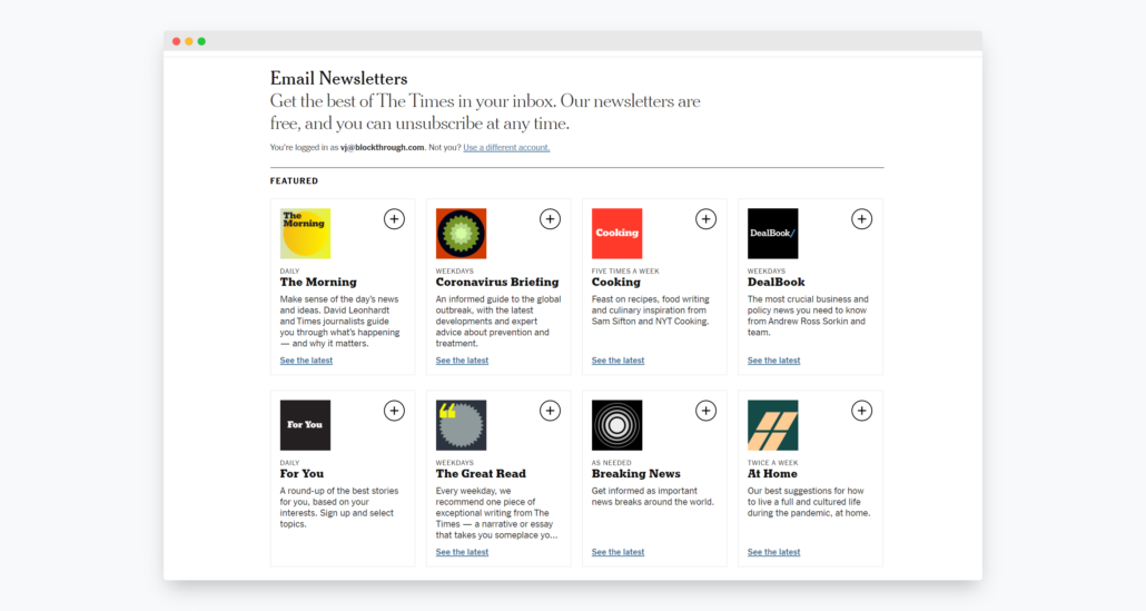 Newsletters can be good way to collect user data